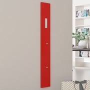 Rebrilliant Wall Mounted Coat Rack; Glossy Red