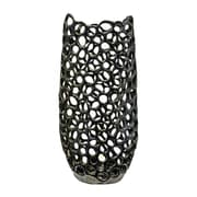 Orren Ellis 15'' Pierced Ceramic Table Vase