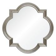 Mirror Image Home Barclay Butera Leaf Quatrefoil Accent Mirror; Silver