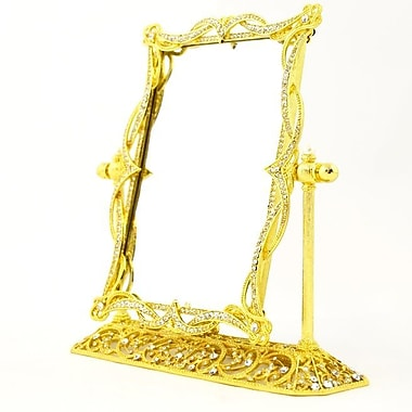 Rosdorf Park Swivel Mirror on Stand Picture Frame; Gold