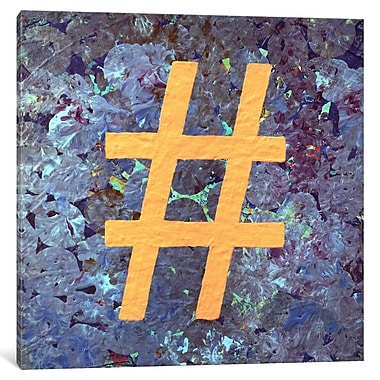 East Urban Home 'Hashtag' Graphic Art on Wrapped Canvas; 12'' H x 12'' W x 0.75'' D