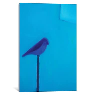 East Urban Home 'Blue Bird' Painting Print on Wrapped Canvas; 26'' H x 18'' W x 1.5'' D