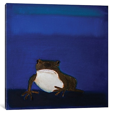 East Urban Home 'Frog' Painting Print on Wrapped Canvas; 12'' H x 12'' W x 1.5'' D