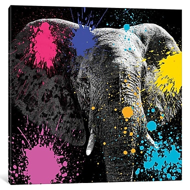 East Urban Home 'Safari Color Pop Series Elephant III' Graphic Art on Wrapped Canvas