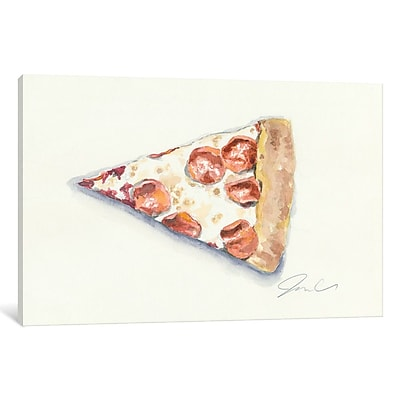 East Urban Home 'Pizza' Painting Print on Wrapped Canvas; 18'' H x 26'' W x 1.5'' D