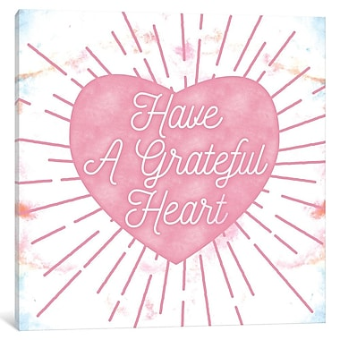 East Urban Home 'Grateful Heart' Painting Print on Wrapped Canvas; 12'' H x 12'' W x 1.5'' D