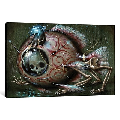 East Urban Home 'Bottom Feeder' Painting Print on Wrapped Canvas; 26'' H x 40'' W x 1.5'' D