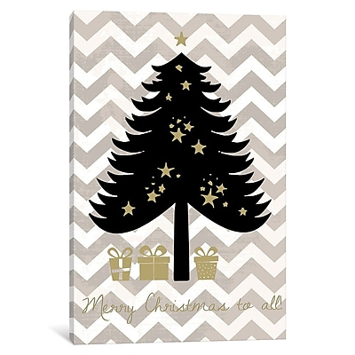 East Urban Home 'Christmas Tree' Graphic Art on Wrapped Canvas; 12'' H x 8'' W x 0.75'' D
