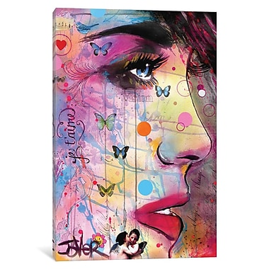 East Urban Home 'Je T ime' Painting Print on Wrapped Canvas; 18'' H x 12'' W x 0.75'' D