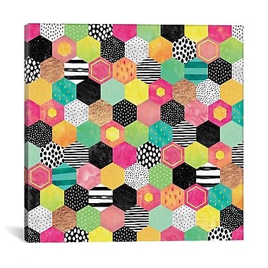 East Urban Home 'Color Hive' Graphic Art on Wrapped Canvas; 26'' H x 26'' W x 1.5'' D