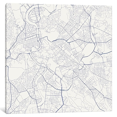 East Urban Home 'Rome Roadway' Graphic Art on Wrapped Canvas in Gray; 12'' H x 12'' W x 0.75'' D