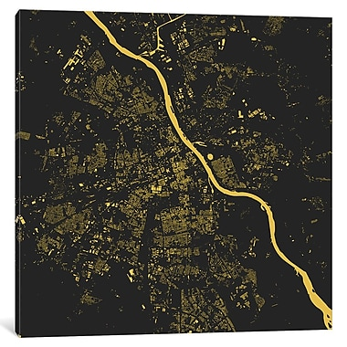 East Urban Home 'Warsaw' Vertical Graphic Art on Wrapped Canvas; 26'' H x 26'' W x 0.75'' D