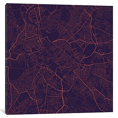 East Urban Home 'Rome Roadway' Graphic Art on Wrapped Canvas; 12'' H x 12'' W x 1.5'' D