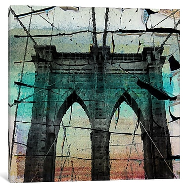 East Urban Home 'The Brooklyn Bridge, New York City, New York' Painting Print on Wrapped Canvas