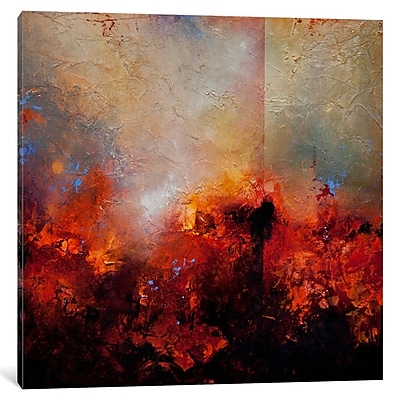 East Urban Home 'Red Earth' Painting Print on Wrapped Canvas; 18'' H x 18'' W x 0.75'' D