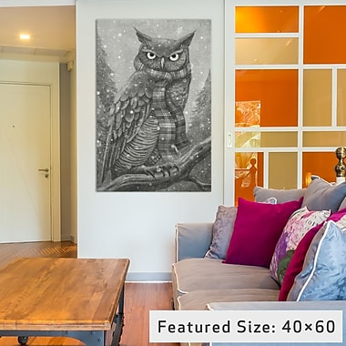 East Urban Home 'Winter Owl' Graphic Art on Wrapped Canvas; 26'' H x 18'' W x 1.5'' D