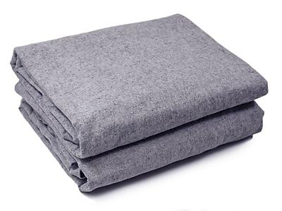 Breakwater Bay Lauryn Yarn Dyed 200 Thread Count 3 Piece 100pct Cotton Sheet Set; Light Gray