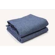 Breakwater Bay Lauryn Yarn Dyed 200 Thread Count 3 Piece 100pct Cotton Sheet Set; Blue