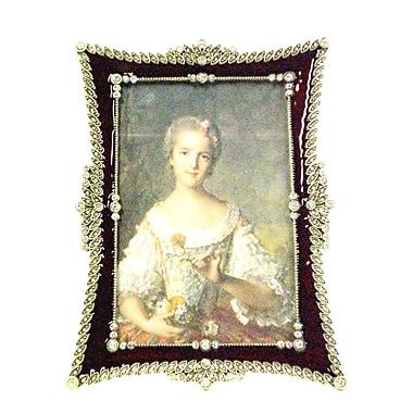 Astoria Grand European Vintage Picture Frame; Burgundy