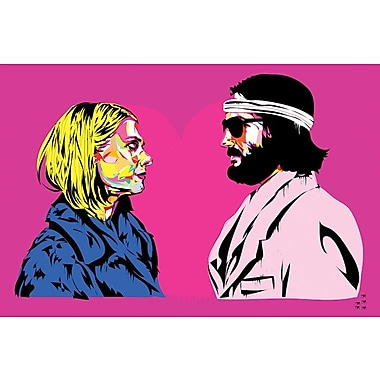 East Urban Home 'Bomber y Margo' Graphic Art on Wrapped Canvas; 26'' H x 40'' W x 0.75'' D