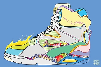 East Urban Home 'Nike Air Command Forces (Billy Ho's)' Graphic Art on Wrapped Canvas
