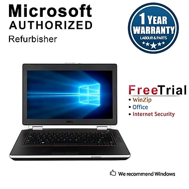 Refurbished Dell Latitude E6420 Notebook, i5-2520M, 2.50 GHz, 12G, 500G HDD, DVD, Win 10 Pro 64-bit