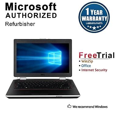 Refurbished Dell Latitude E6420 Notebook, i5-2520M, 2.50 GHz, 12G, 240G SSD, DVDRW, Win 10 Pro 64-bit