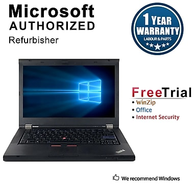 Refurbished Lenovo ThinkPad T430 Notebook, i5-2520M, 2.50 GHz, 4G RAM, 240G SSD, DVD, Win 10 Pro 64-bit