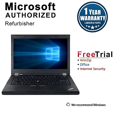 Refurbished Lenovo ThinkPad T430 Notebook, i5-2520M, 2.50 GHz, 4G RAM, 120G SSD, DVD, Win 10 Pro 64-bit