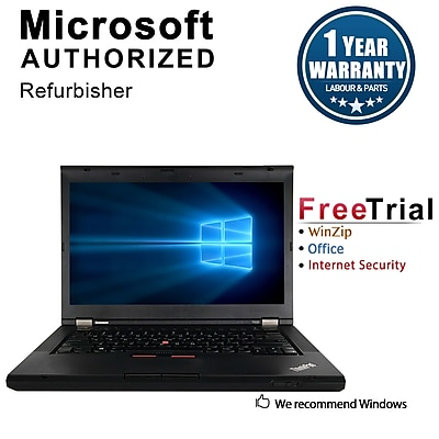 Refurbished Lenovo ThinkPad T430 Notebook, i5-3320M, 2.60 GHz, 4G RAM, 1TB HDD, DVD, Win 10 Pro 64-bit