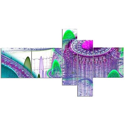 East Urban Home 'Purple Fractal Infinite World' Graphic Art Print Multi-Piece Image on Canvas
