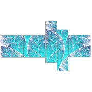 East Urban Home 'Exotic Blue Biological Organism' Graphic Art Print Multi-Piece Image on Canvas