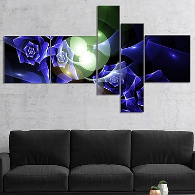 East Urban Home 'Blue Bouquet of Beautiful Roses' Graphic Art Print Multi-Piece Image on Canvas