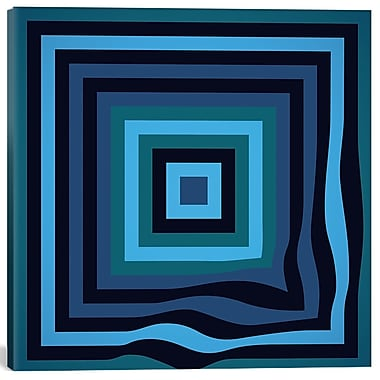 East Urban Home 'Blue Ripple' Graphic Art on Canvas; 12'' H x 12'' W x 1.5'' D