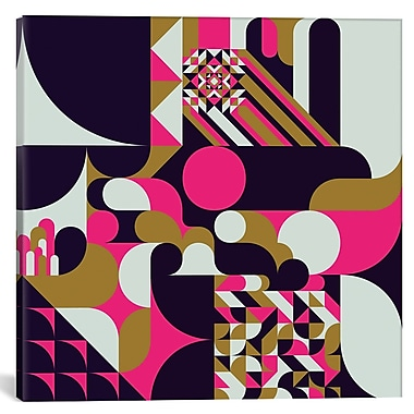 East Urban Home 'Baroque I' Graphic Art on Canvas; 26'' H x 26'' W x 1.5'' D