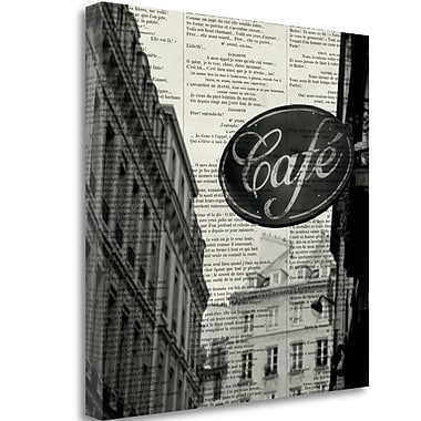 Tangletown Fine Art 'Cafe' by Marc Olivier Textual Art on Wrapped Canvas; 20'' H x 20'' W