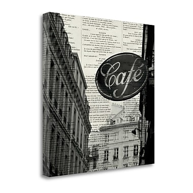 Tangletown Fine Art 'Cafe' by Marc Olivier Textual Art on Wrapped Canvas; 24'' H x 24'' W