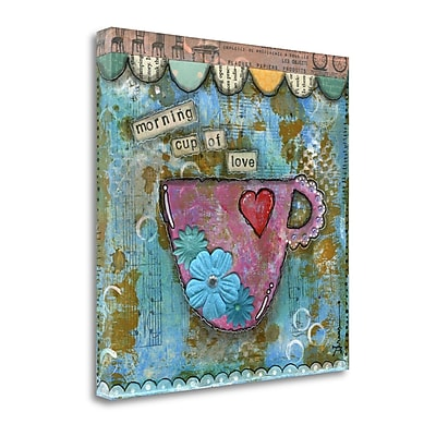 Tangletown Fine Art 'Morning Cup of Love' Graphic Art Print on Canvas; 25'' H x 25'' W