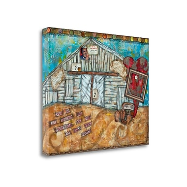 Tangletown Fine Art 'Look at Life' Graphic Art Print on Canvas; 21'' H x 27'' W