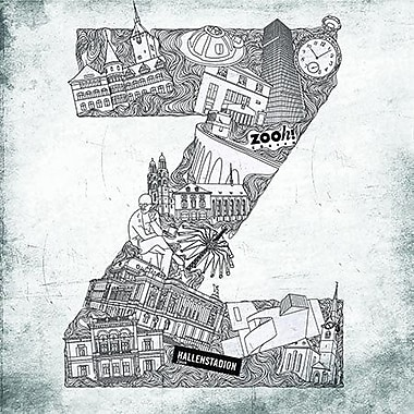 East Urban Home 'Alphabet Zurich' Graphic Art on Canvas; 26'' H x 26'' W x 1.5'' D