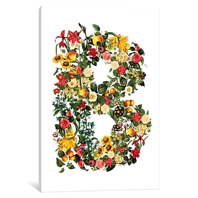 East Urban Home 'Floral B' Graphic Art on Wrapped Canvas; 60'' H x 40'' W x 1.5'' D