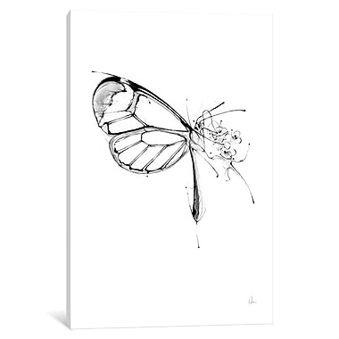 East Urban Home 'Butterfly Fuel' Painting Print on Wrapped Canvas; 26'' H x 18'' W x 0.75'' D