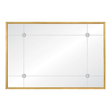 Mirror Image Home Celerie Kemble Leaf Etched Full Length Mirror; Gold