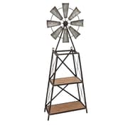 Sagebrook Home Wood Windmill Table or Wall Shelf