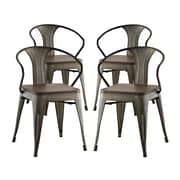 Williston Forge Ashlyn Dining Chair (Set of 4); Brown