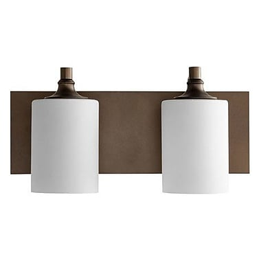 Willa Arlo Interiors Dian 2-Light Vanity Light; Oiled Bronze