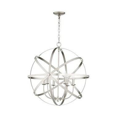 Willa Arlo Interiors Dian 6-Light Metal Candle-Style Chandelier; Satin Nickel