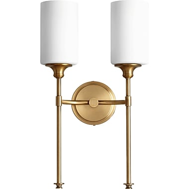 Willa Arlo Interiors Dian 2-Light Wall Sconce; Aged Brass