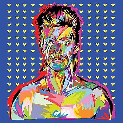 East Urban Home 'Bowie' Graphic Art on Wrapped Canvas; 26'' H x 26'' W x 0.75'' D