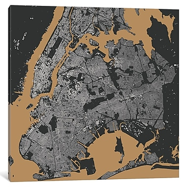 East Urban Home 'New York City' Hanging Graphic Art on Wrapped Canvas; 37'' H x 37'' W x 0.75'' D